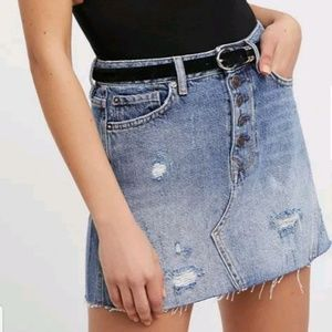 Distressed mini Blue denim jeans 1/2 Priced $